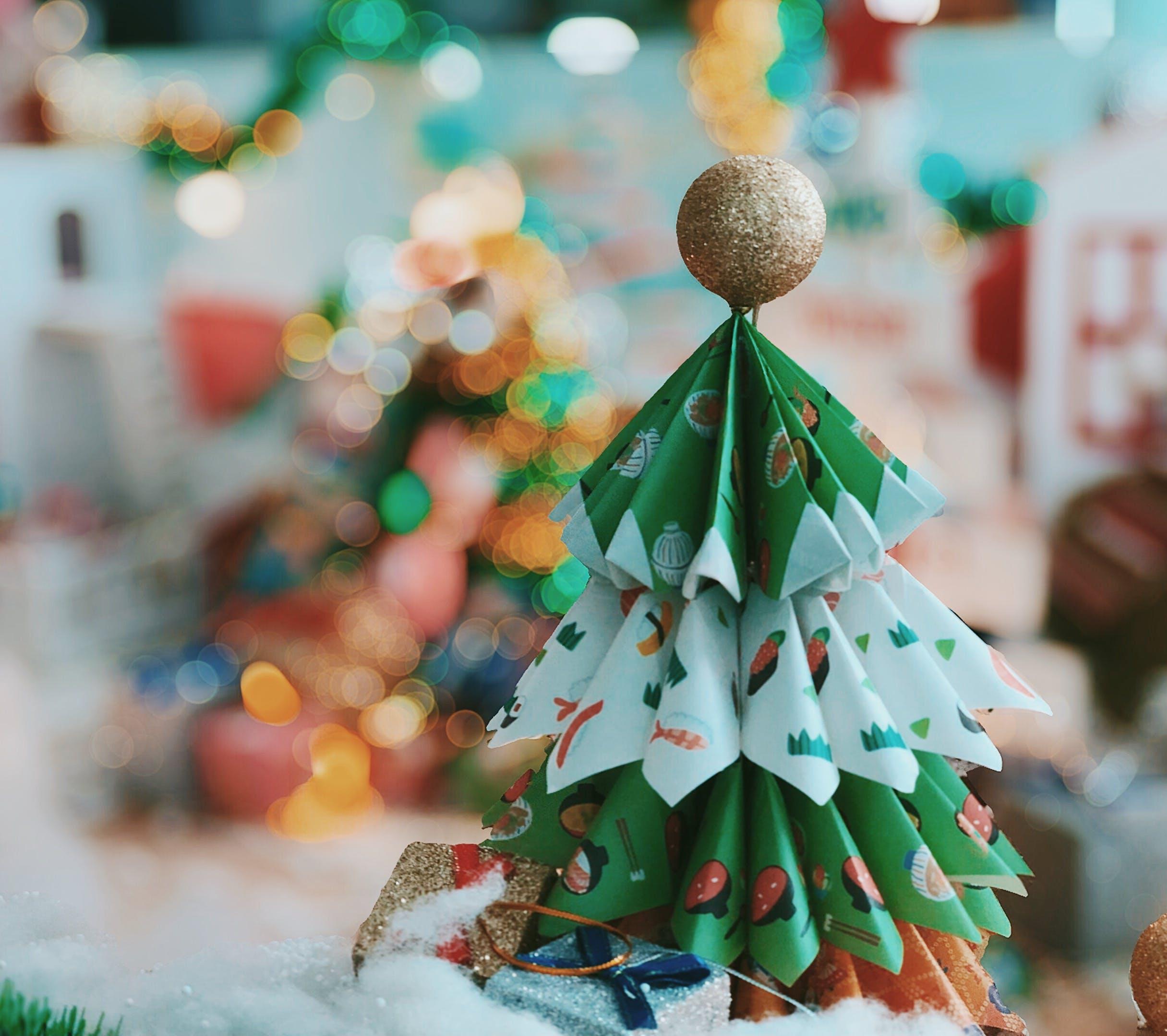 Δωρεάν στοκ φωτογραφιών με origami, χειροποίητος, Χριστούγεννα, χριστουγεννιάτικο δέντρο