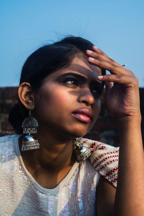 印度女人, 墨鏡, 太陽, 女人 的 免費圖庫相片