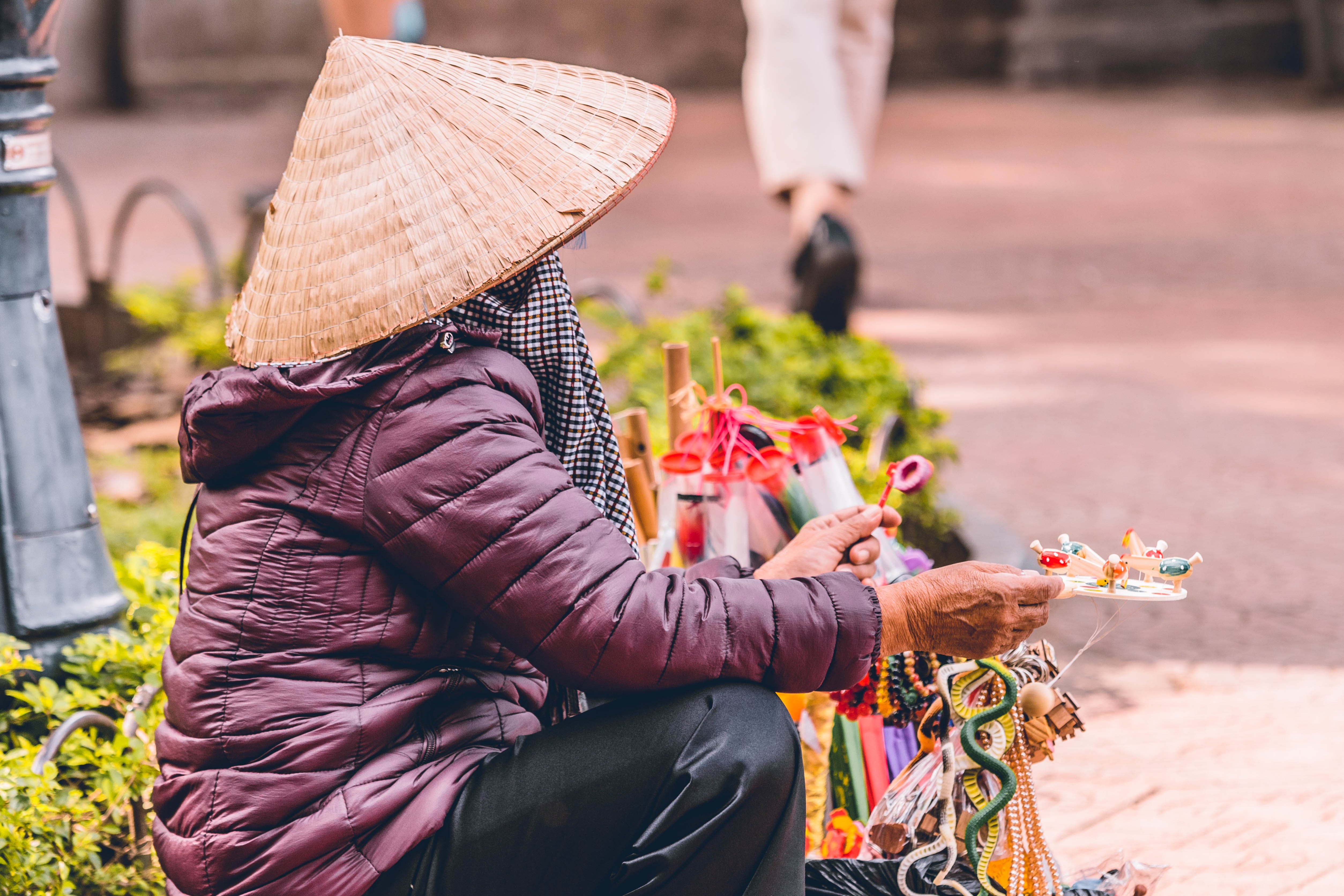 Free stock photo of #vietnamese, beach hat, cambodia, streets