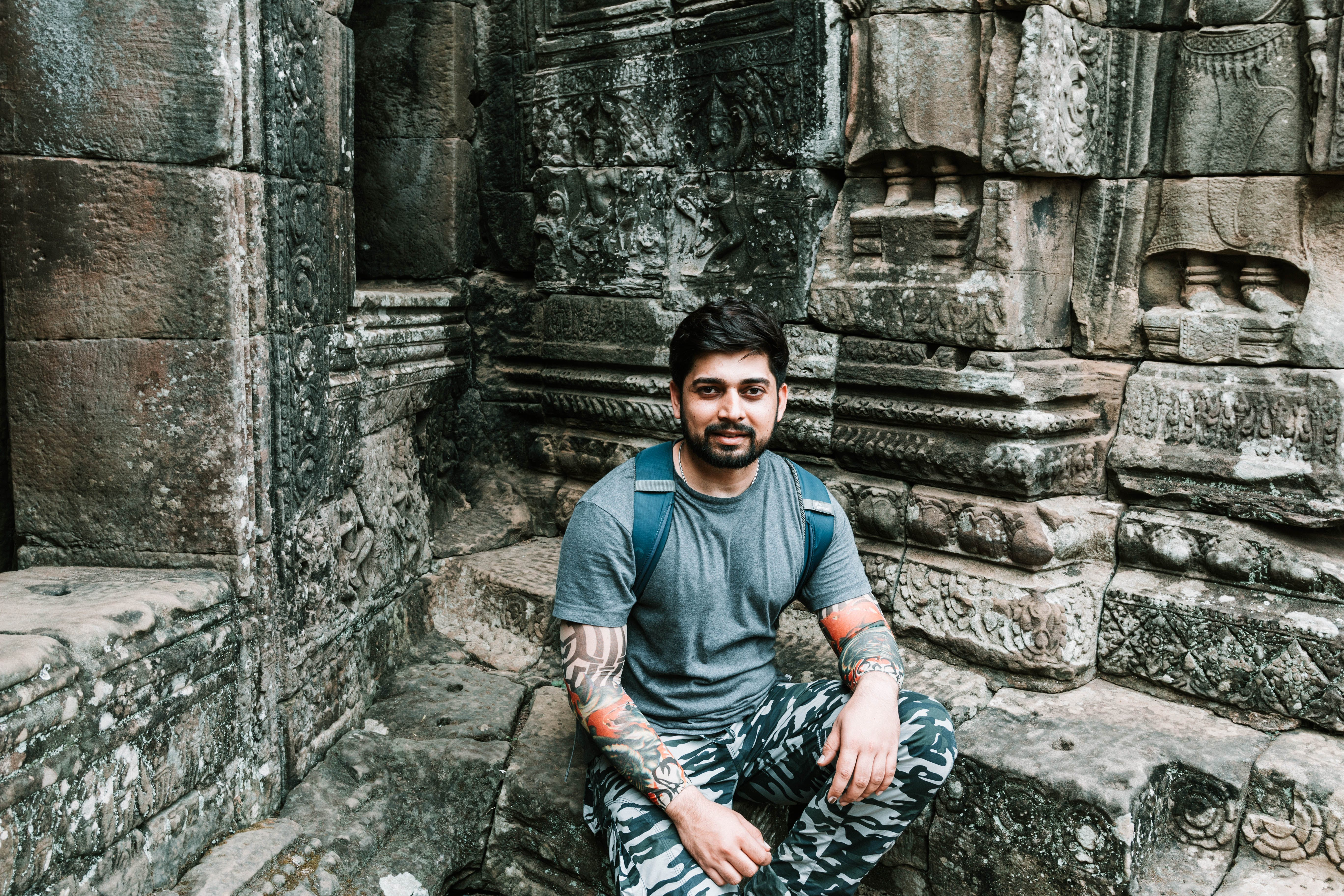 Free stock photo of angkor wat, portrait