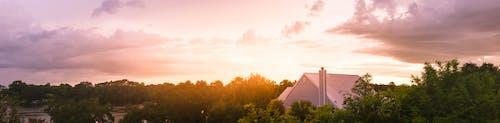 Kostenloses Stock Foto zu bäume, dach, friedvoll, himmel