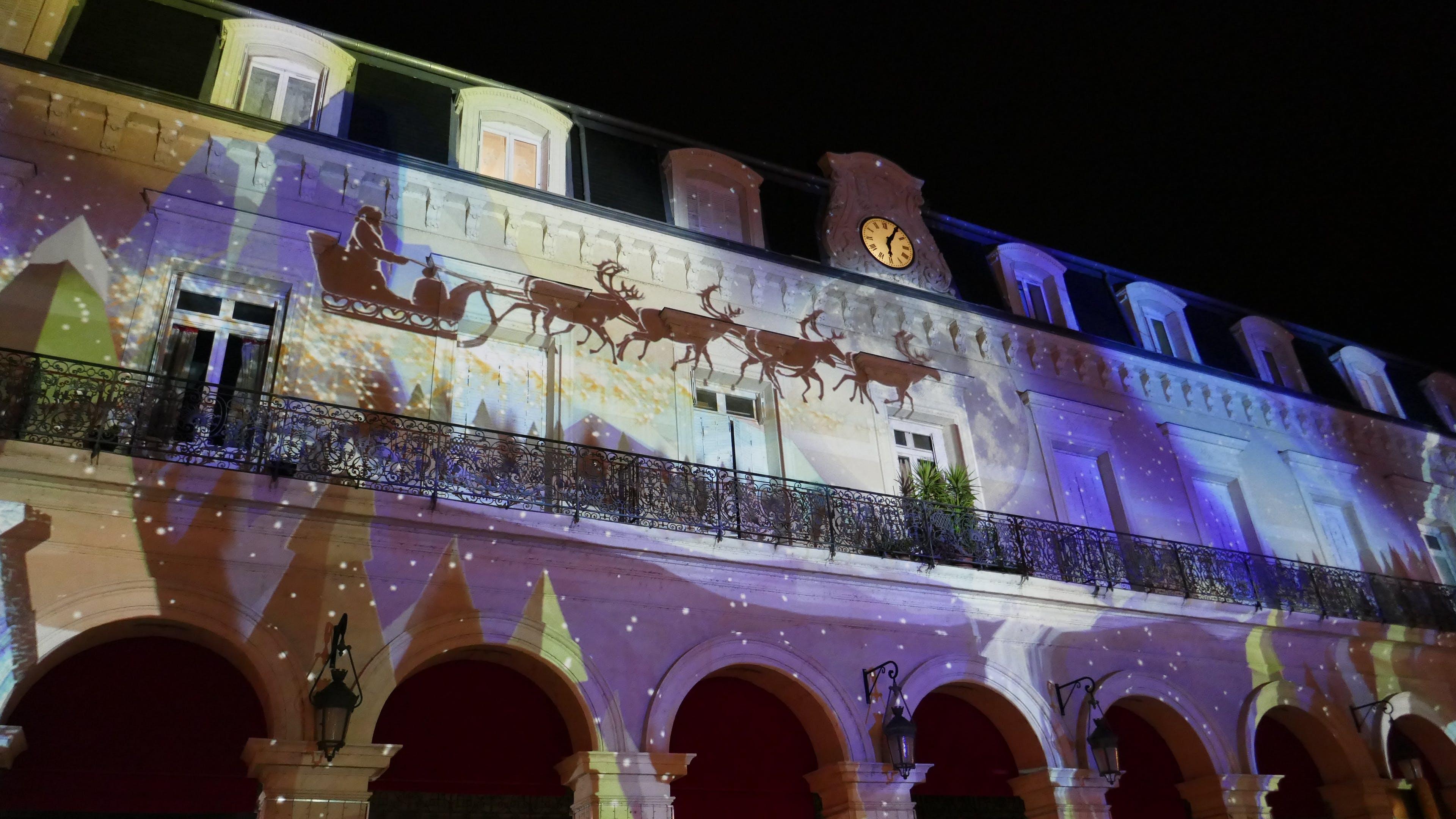 Free stock photo of christmas lighs, Ephemeral city show, magical, night market