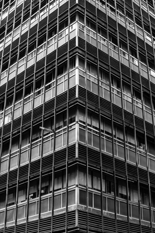 Free stock photo of asia, black and white, building