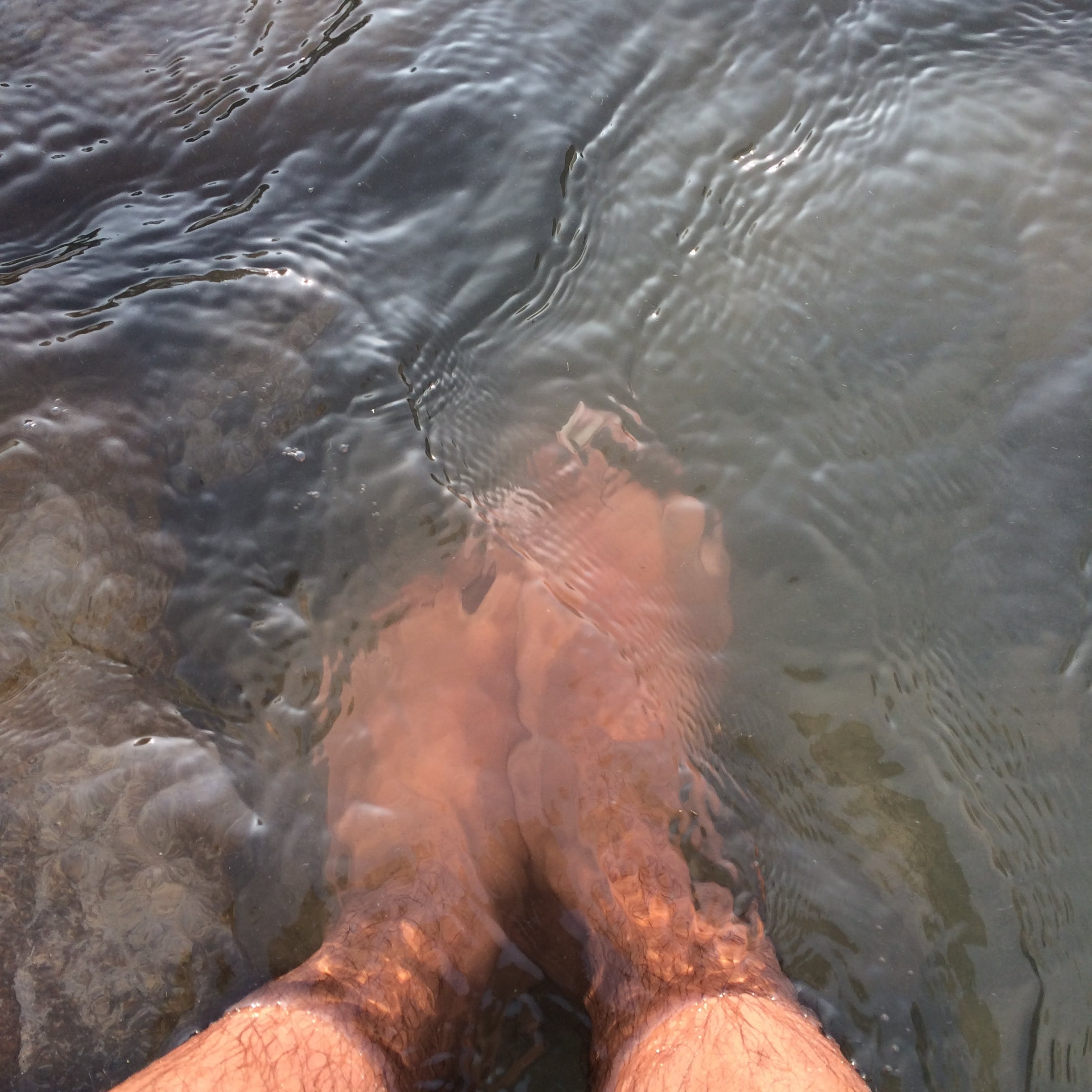 Free stock photo of bare feet, legs, water flow
