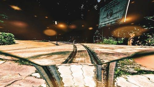 demir yolu, demir yolu rayları, raylar, Tren yolu içeren Ücretsiz stok fotoğraf