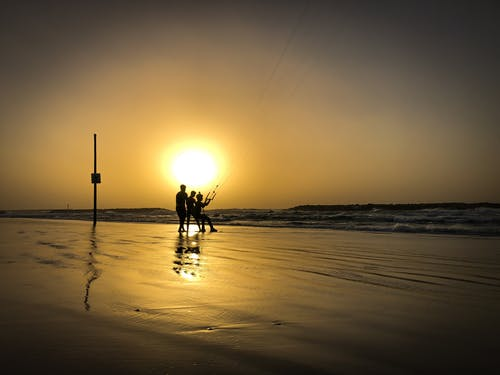Free stock photo of beach, israel, kiteboarding