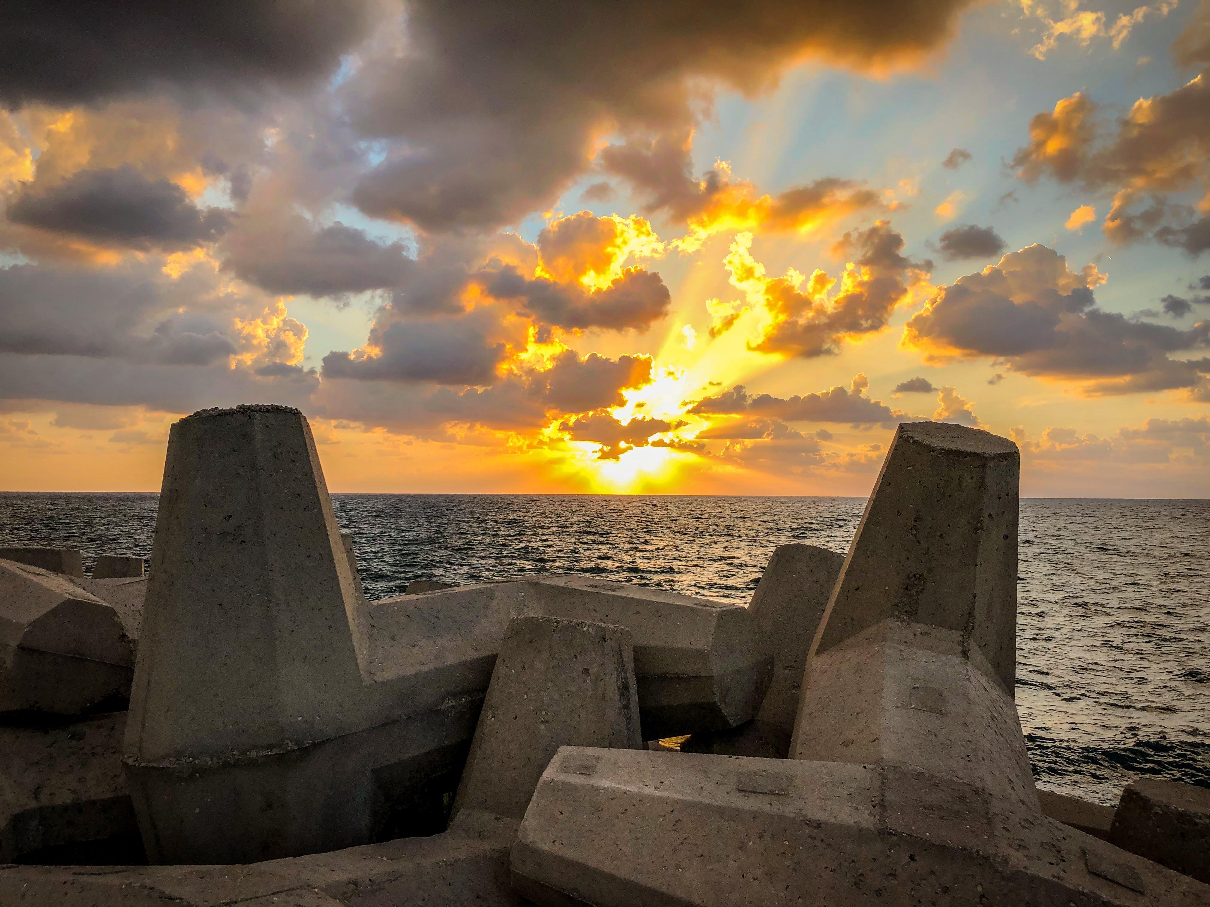 Free stock photo of Israel, sea, sky, sun