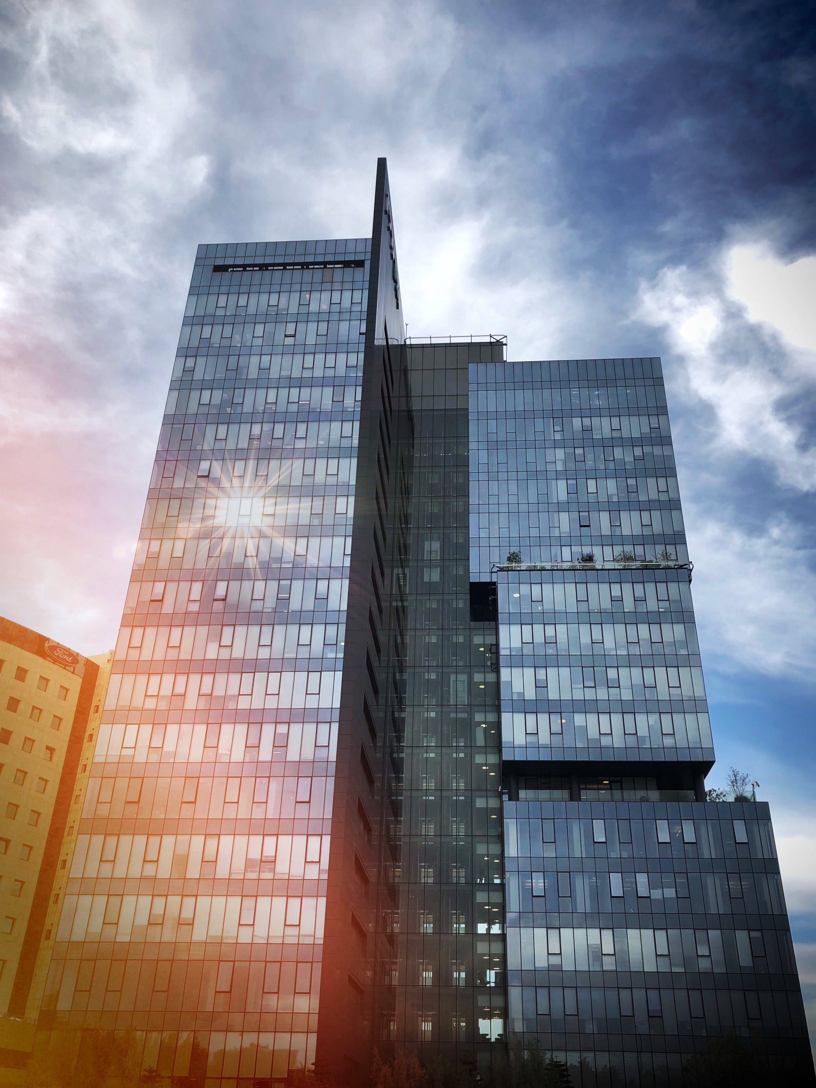 Free stock photo of building, glass windows, Israel, light reflections