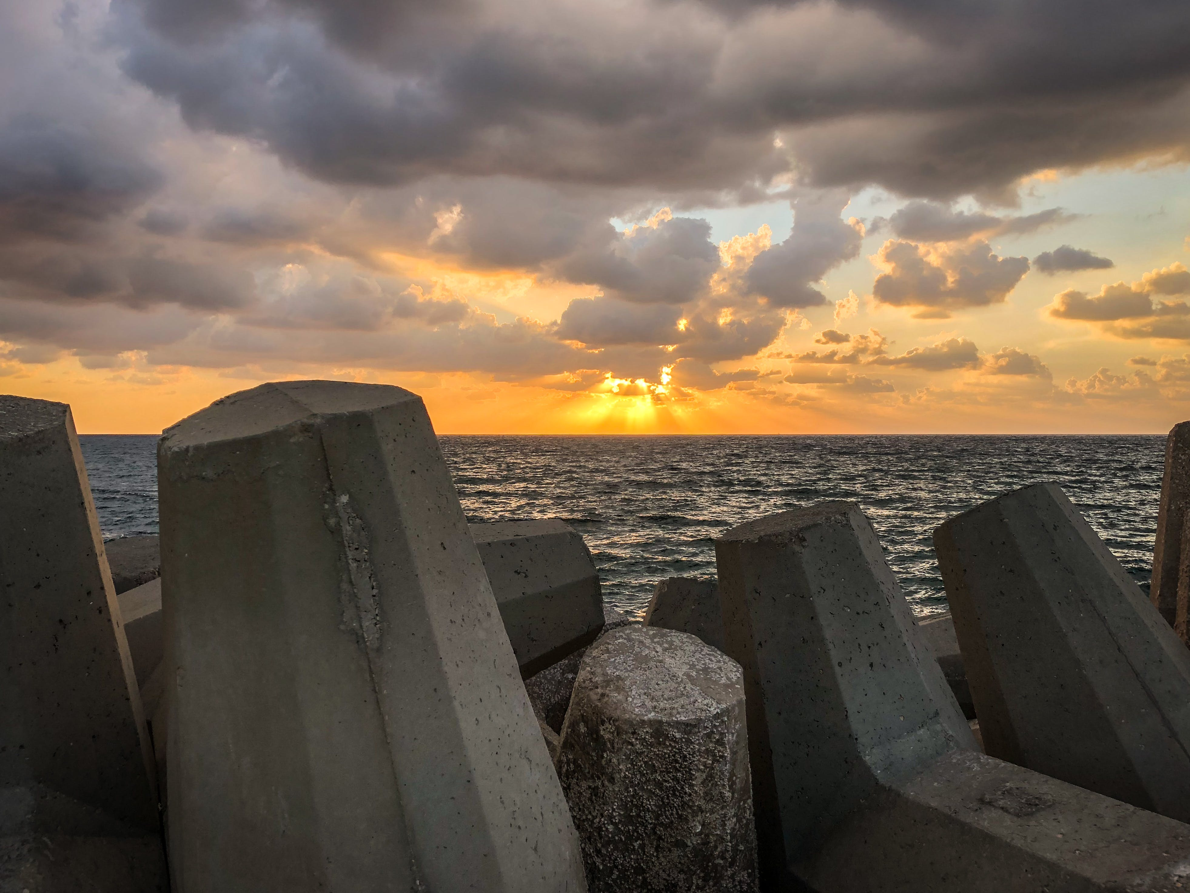 Free stock photo of Israel, sea, sky, srone