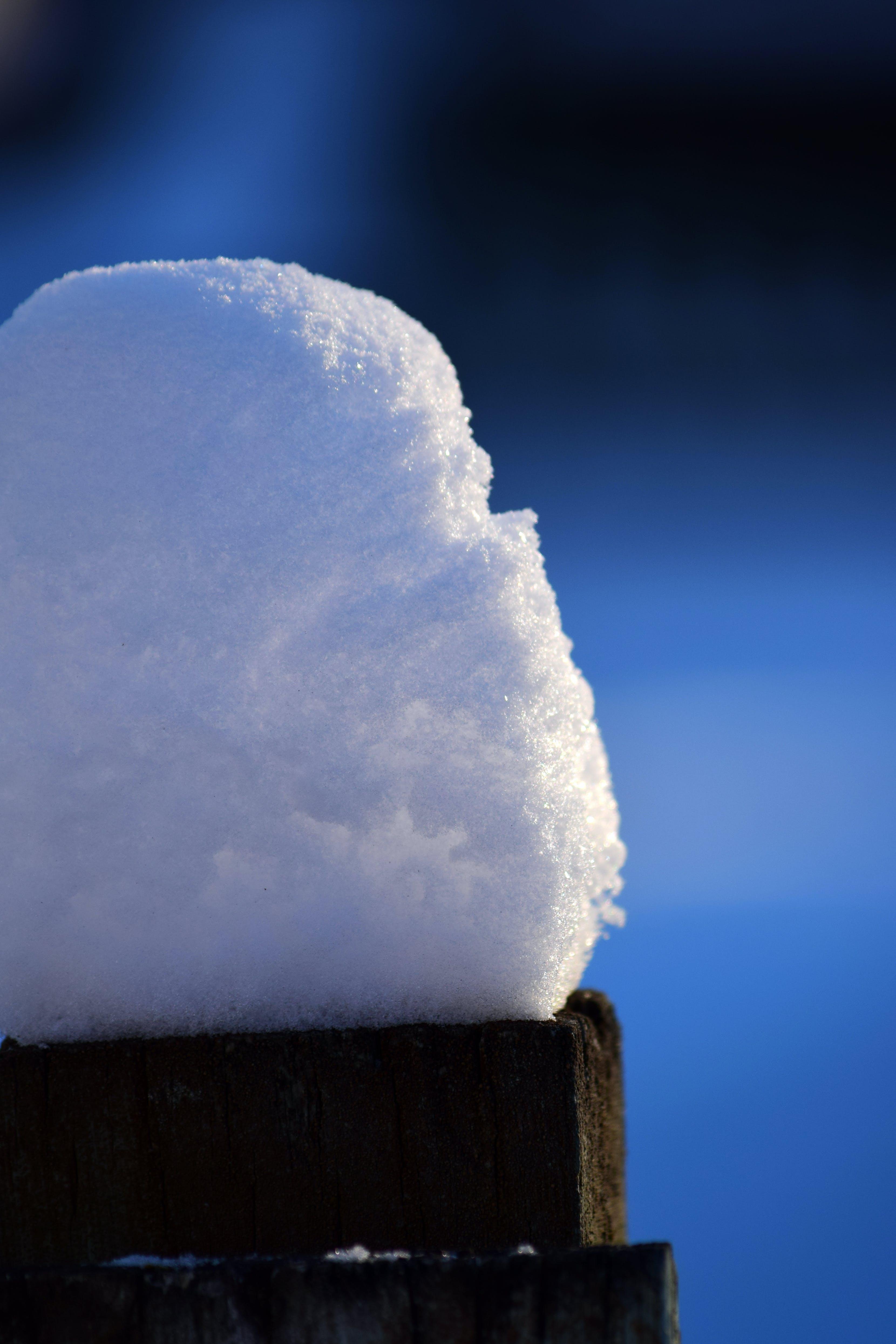 Free stock photo of post, snow, sun, winter