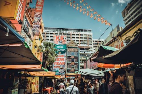 人群, 商店, 城市, 城鎮 的 免费素材照片