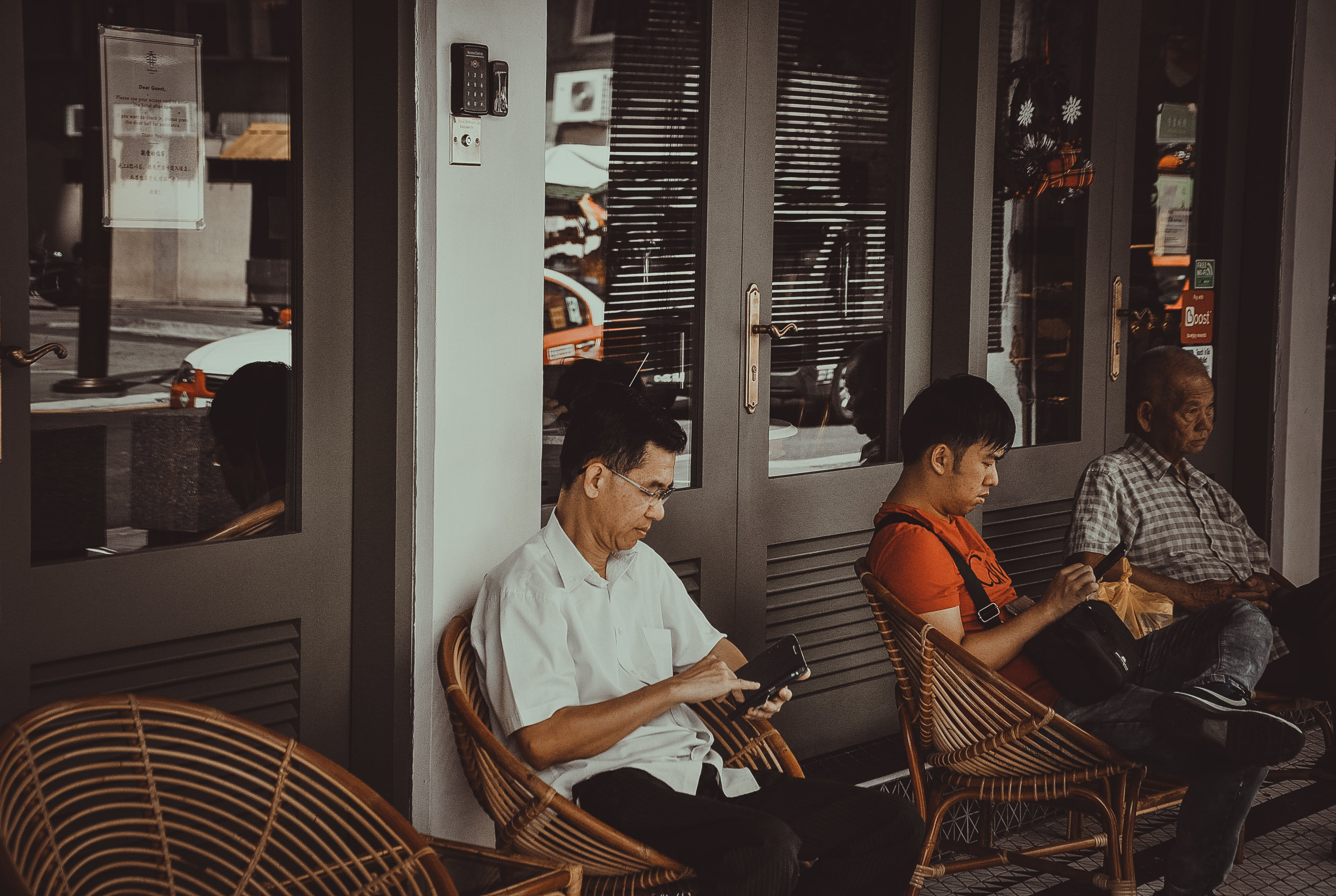 Men Sitting On Chairs