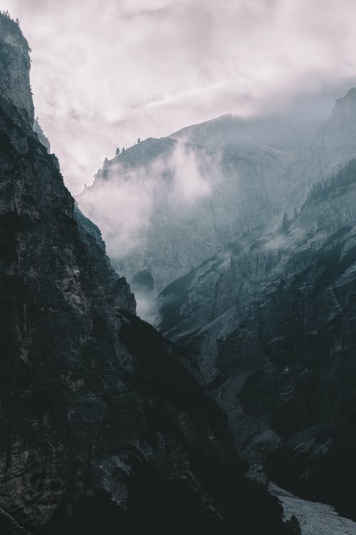 Fog-covered Mountains