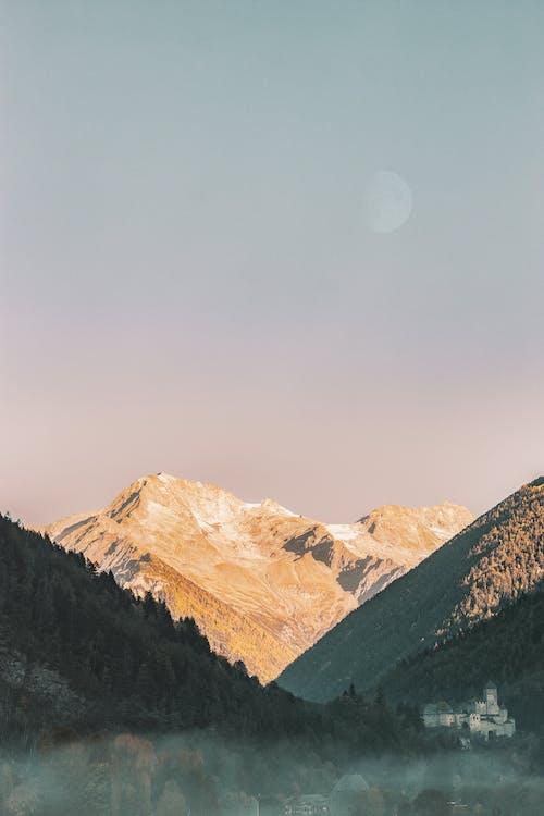 Ảnh lưu trữ miễn phí về bầu trời, danh lam thắng cảnh, mặt trăng, núi