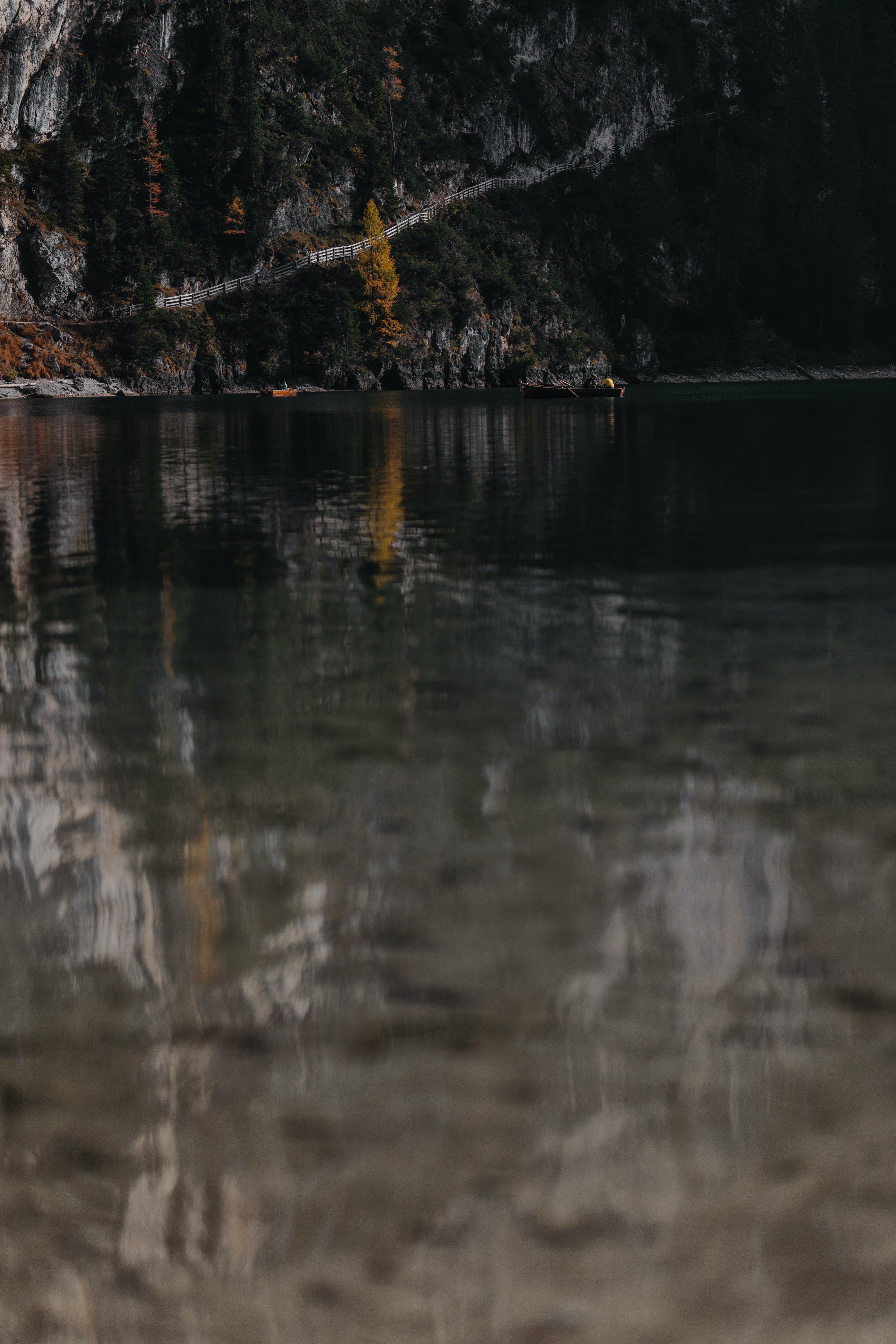 Selective Focus Photo of Lake