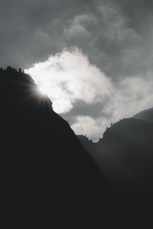 경치, 산, 안개, 역광을 받은의 무료 스톡 사진