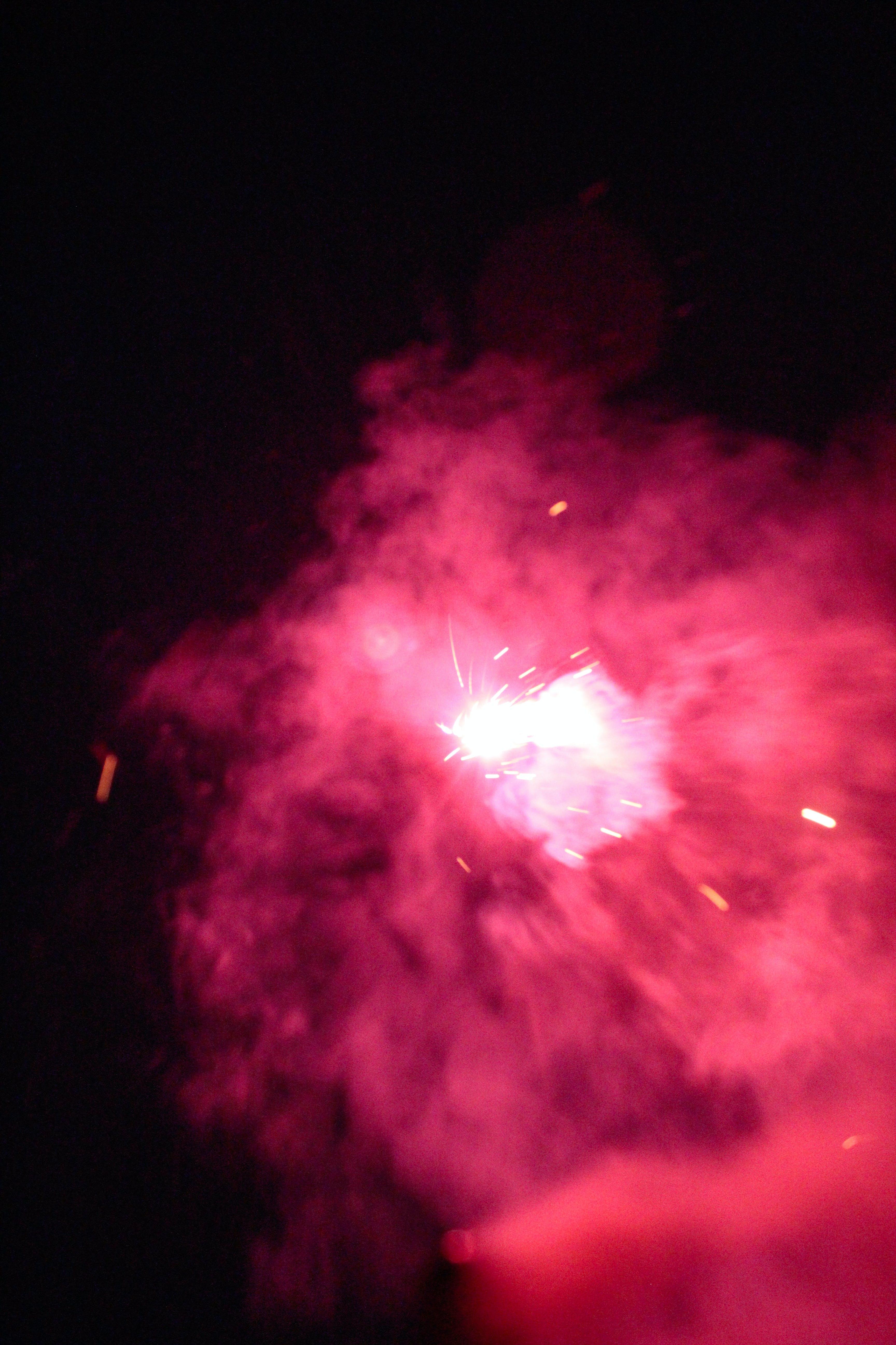 feuerwerk, kerzenlicht