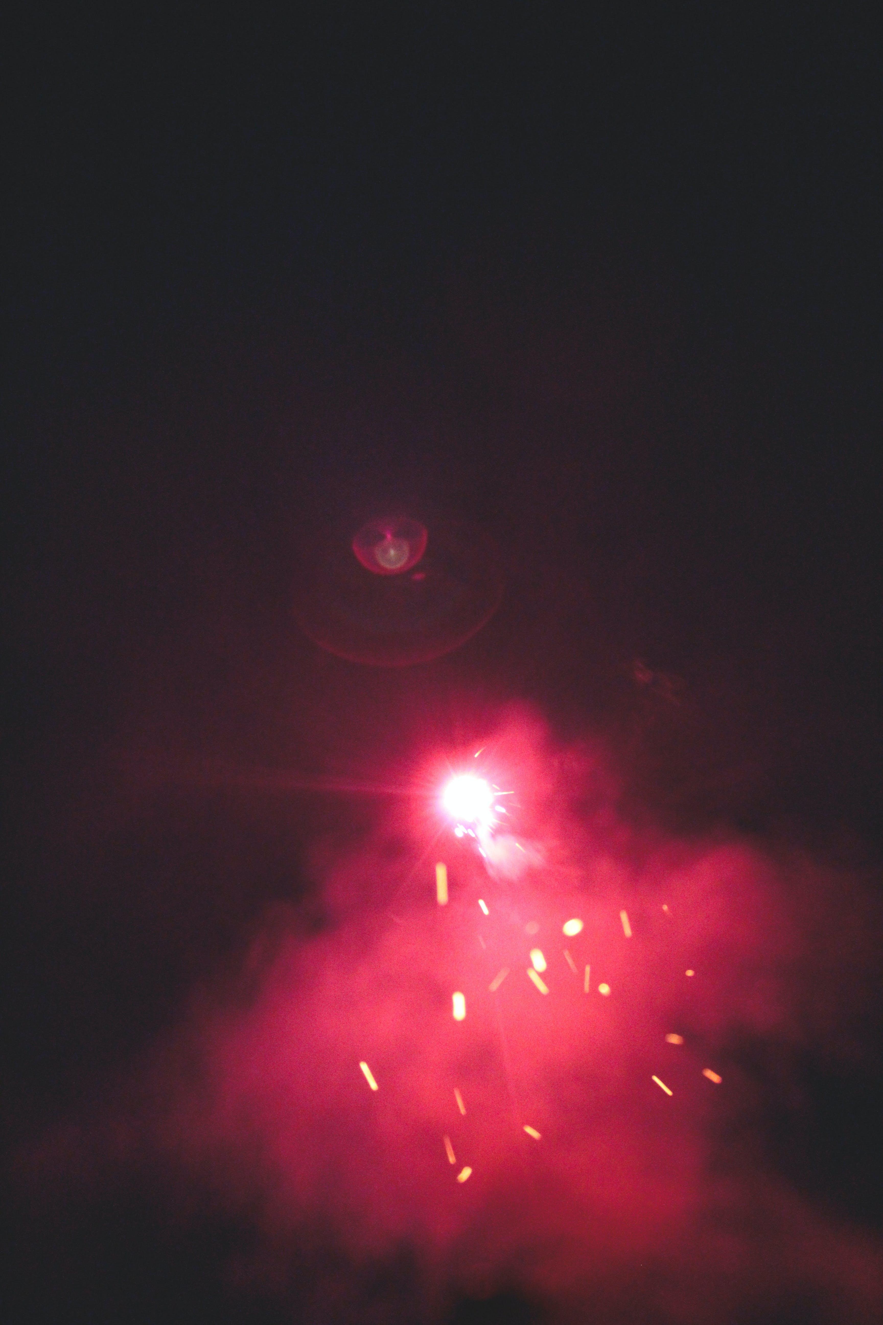 Kostenloses Stock Foto zu feuerwerk, kerzenlicht