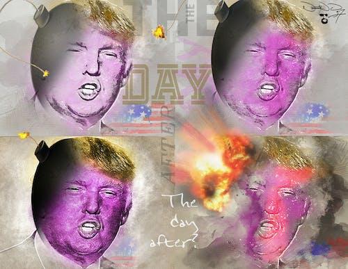 trumplosion, 主席, 唐納德, 爆炸 的 免費圖庫相片