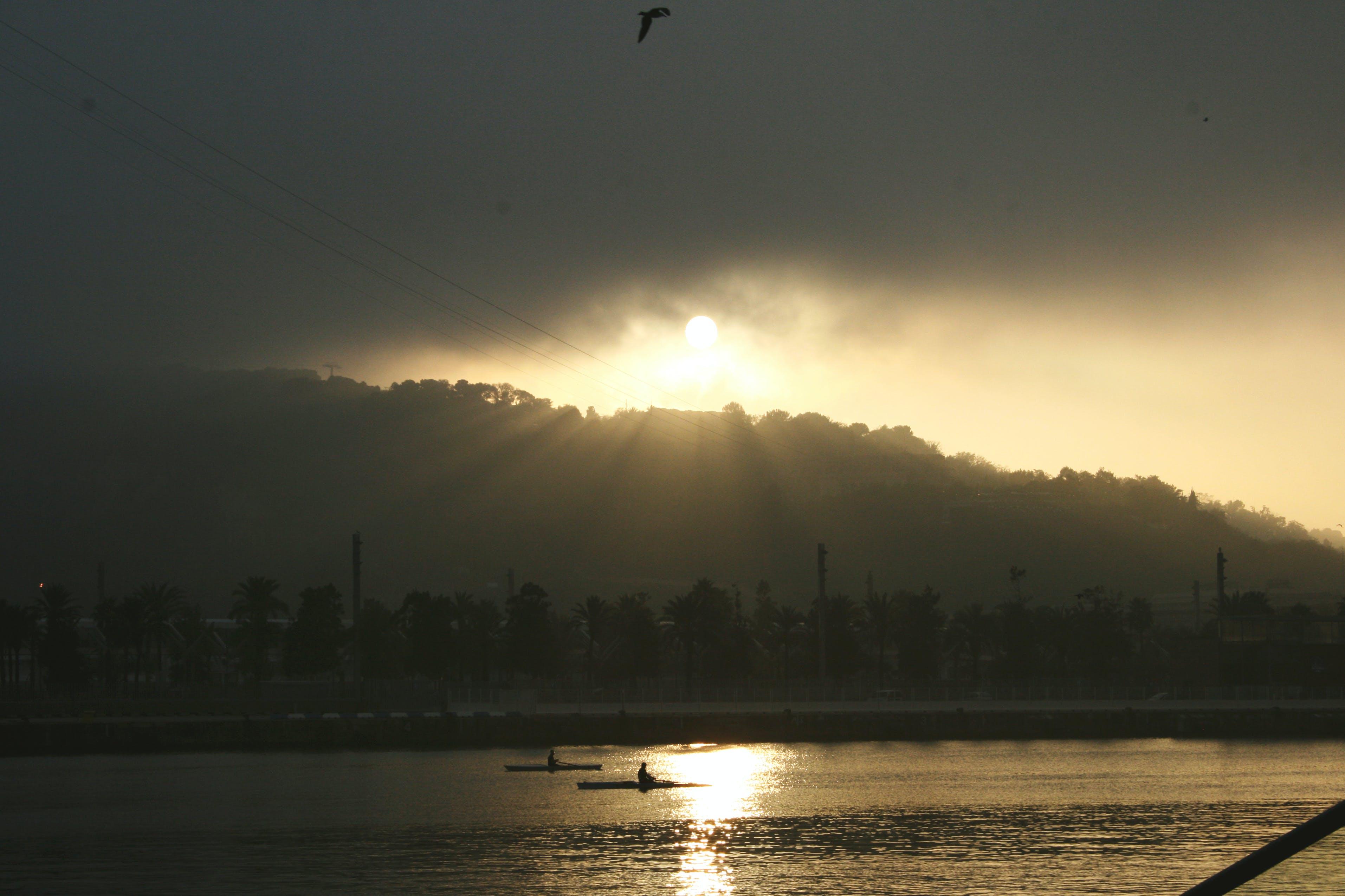clouds, dawn, landscape