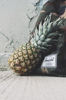 Pineapple Fruit Near Herchel Bag