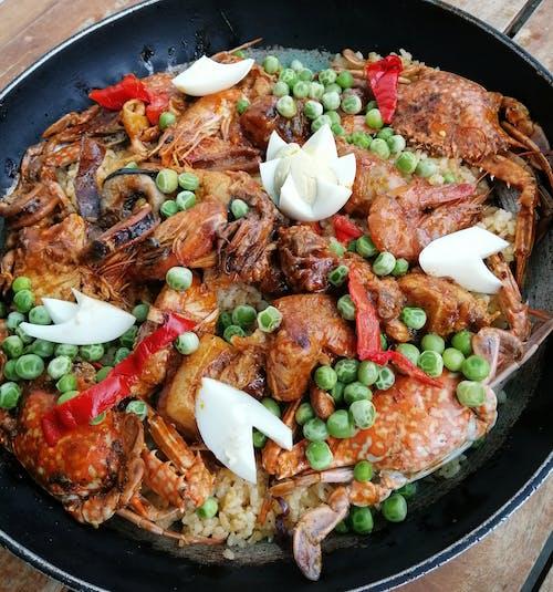 Foto stok gratis makanan, paella