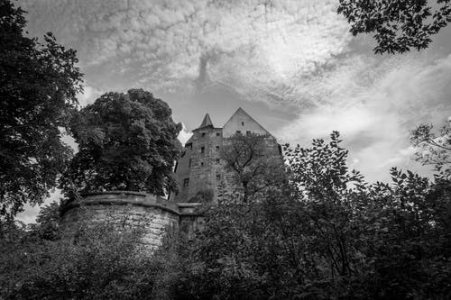 Ảnh lưu trữ miễn phí về chụp ảnh đơn sắc, hủy hoại, Khóa, Lâu đài