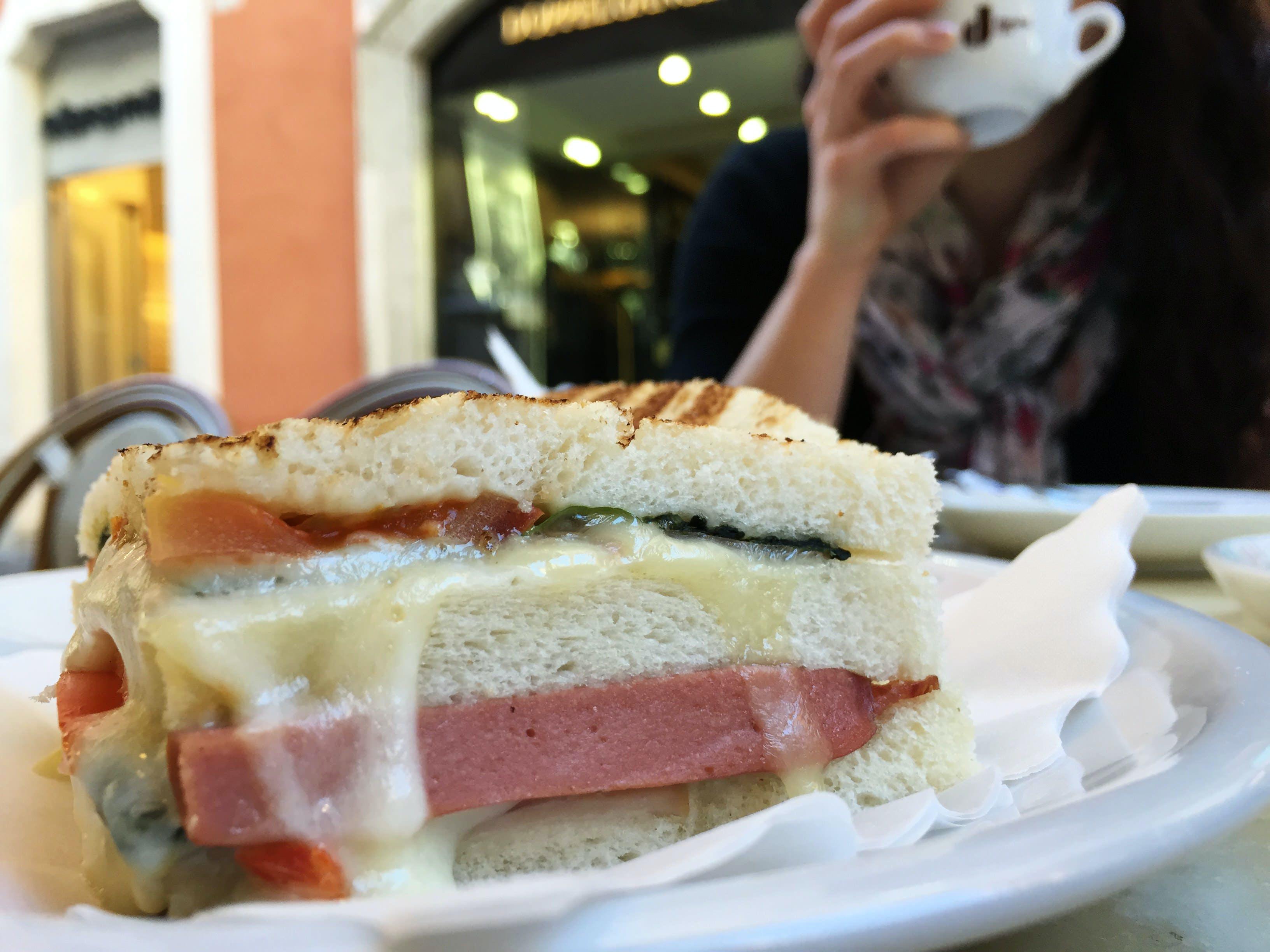 bread, cheese, coffee
