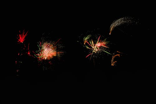 Free stock photo of colors, firework, new year