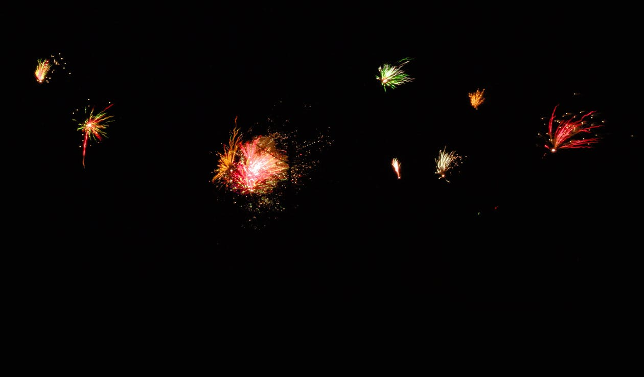 colors, firework, new year