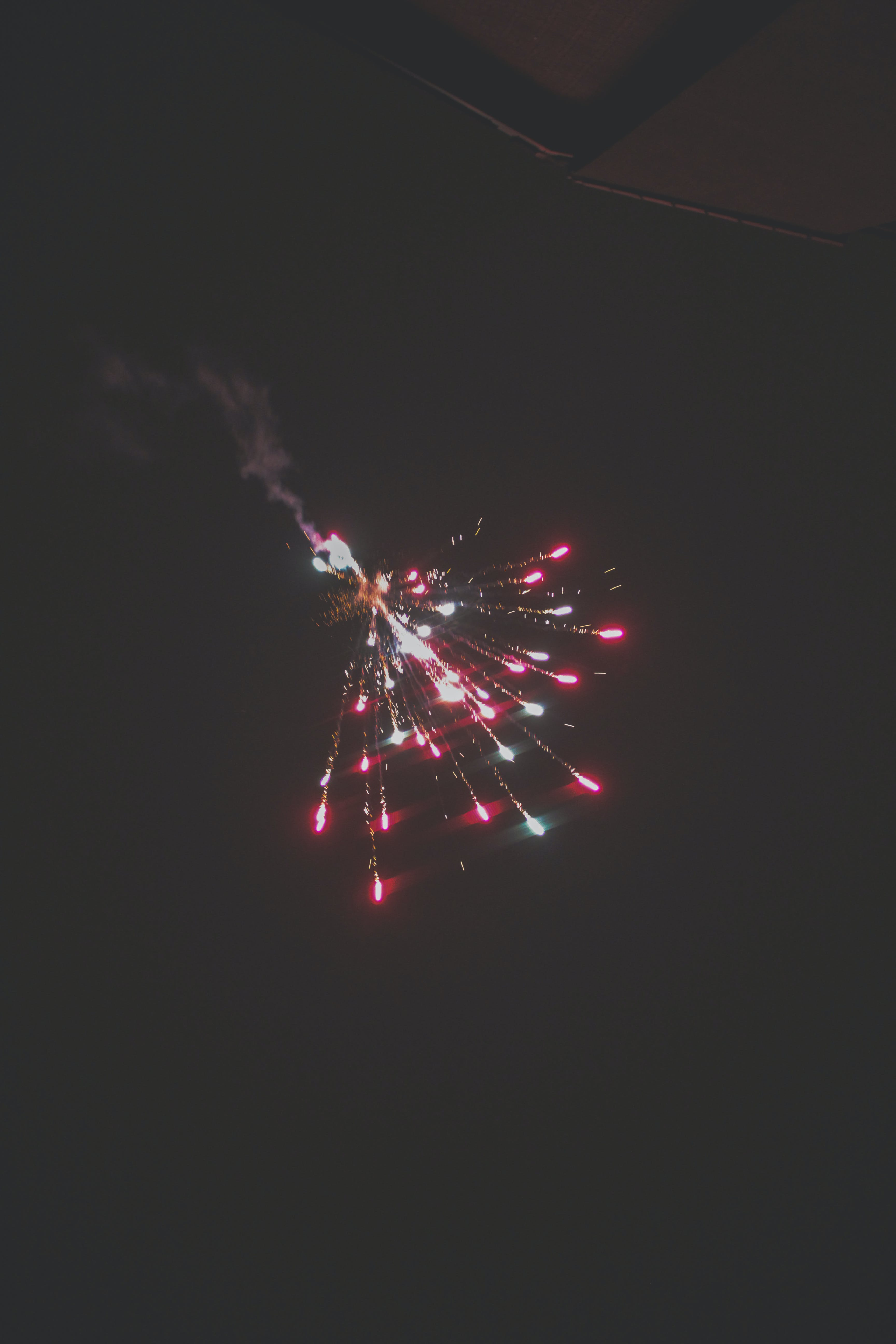 feuerwerk, funken, licht