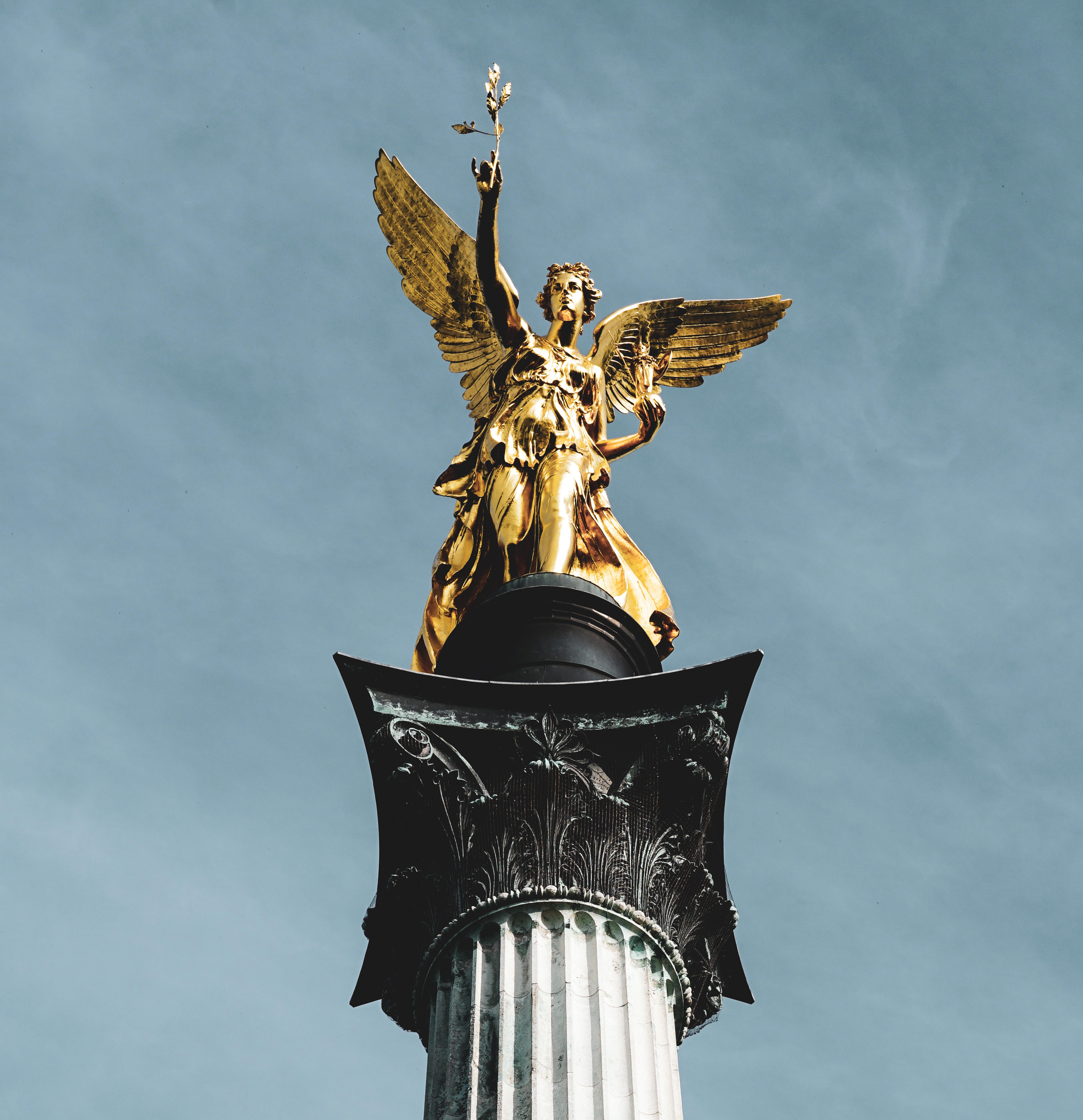 Fotos de stock gratuitas de angel de la paz, antiguo, Arte, dorado