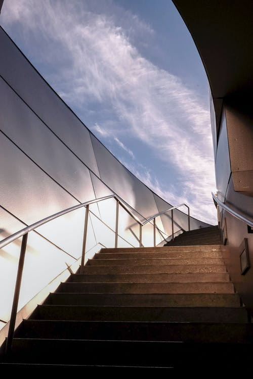 bakış açısı, merdiven, merdivenler, mimari içeren Ücretsiz stok fotoğraf