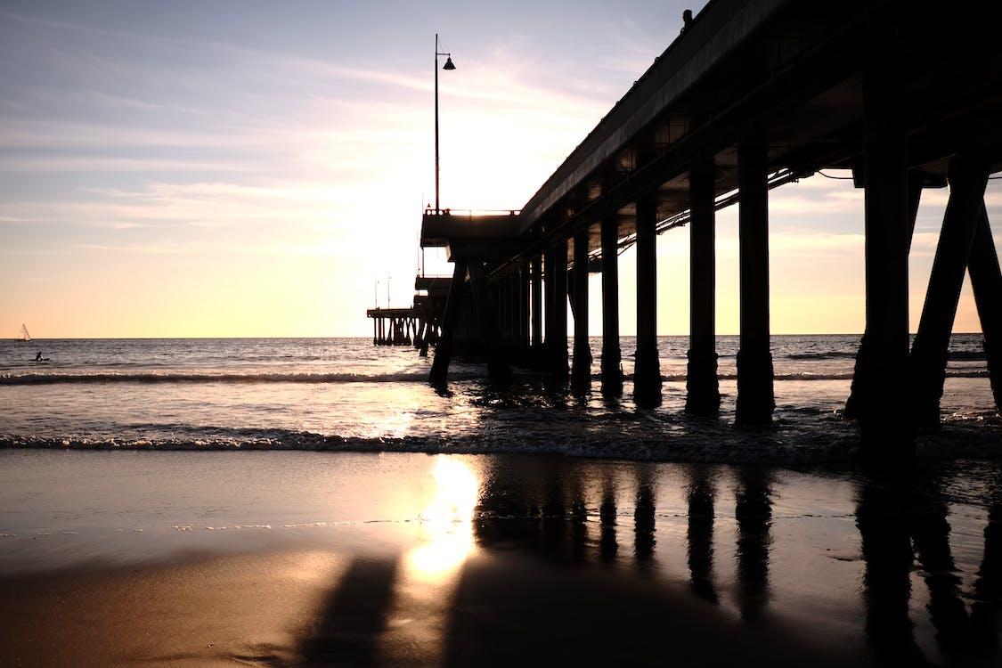 gün batımı, losangeles içeren Ücretsiz stok fotoğraf
