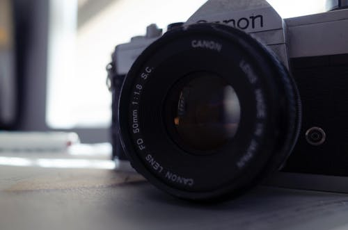 Free stock photo of analog camera, camera lens, canon