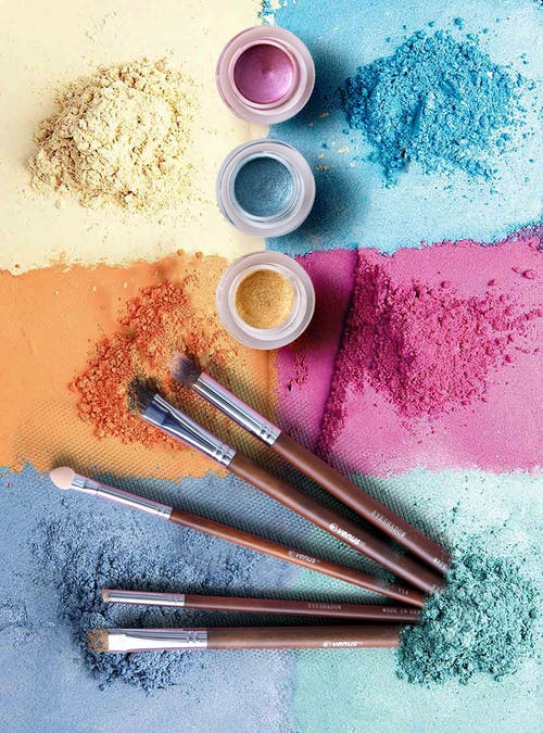 Colored Powders and Brush