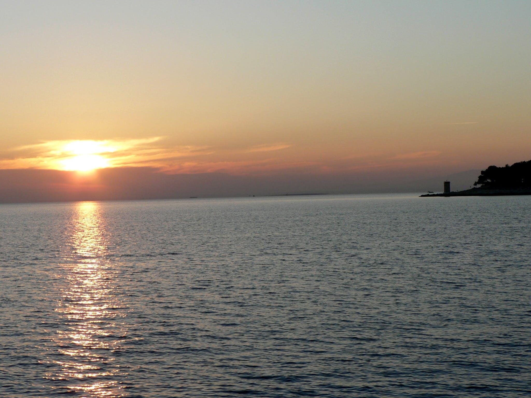 Free stock photo of sea, sunset