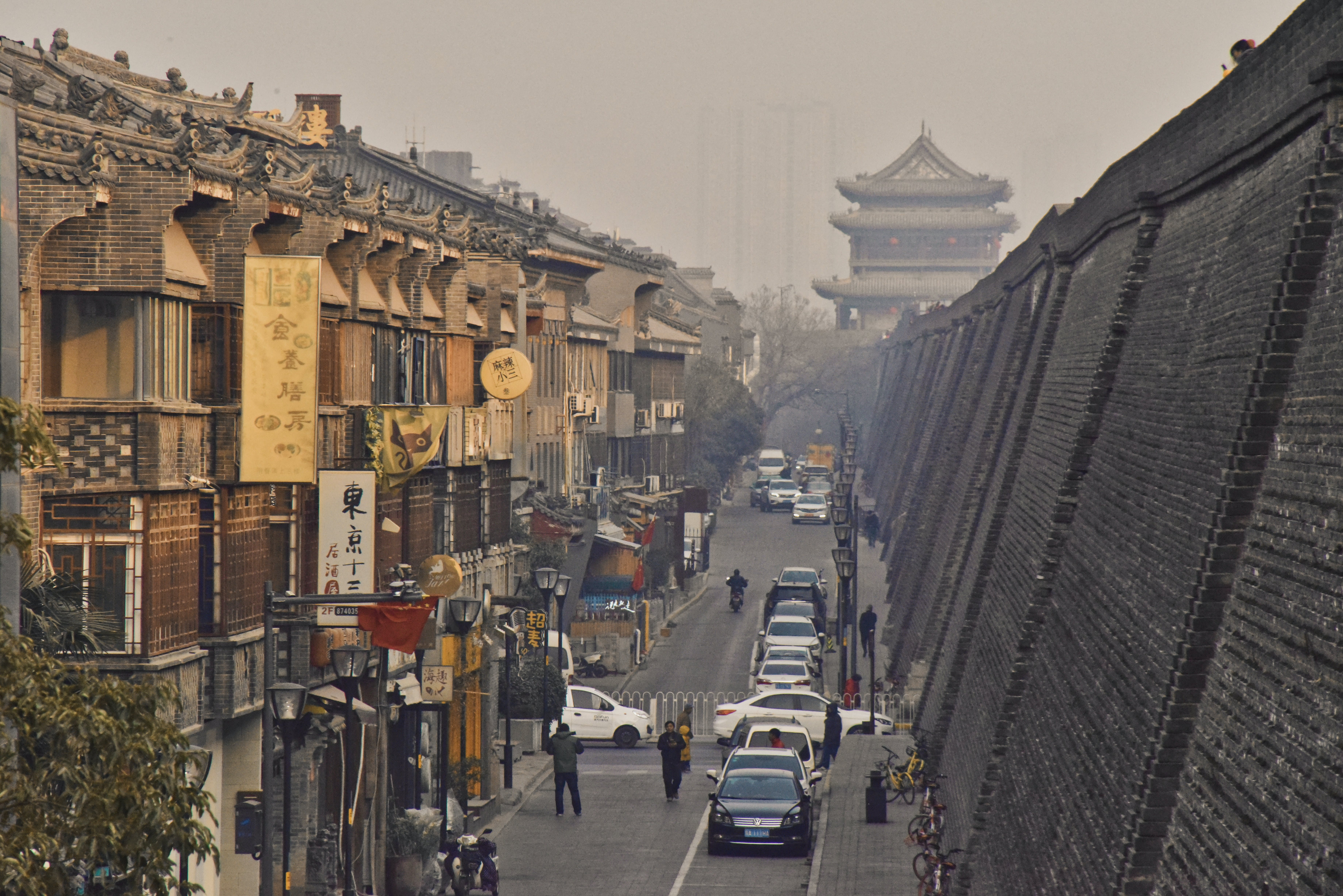 Free stock photo of chinese architecture, chinese city, city wall, traditional street view