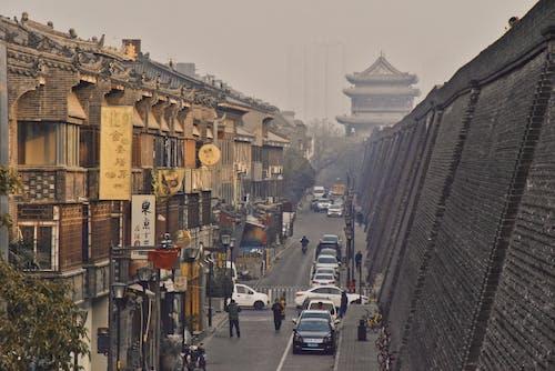 Photos gratuites de architecture chinoise, mur de la ville, ville chinoise, vue sur la rue traditionnelle