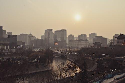 Photos gratuites de ville en brume