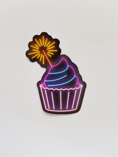 Photo of Neon Cupcake Signage