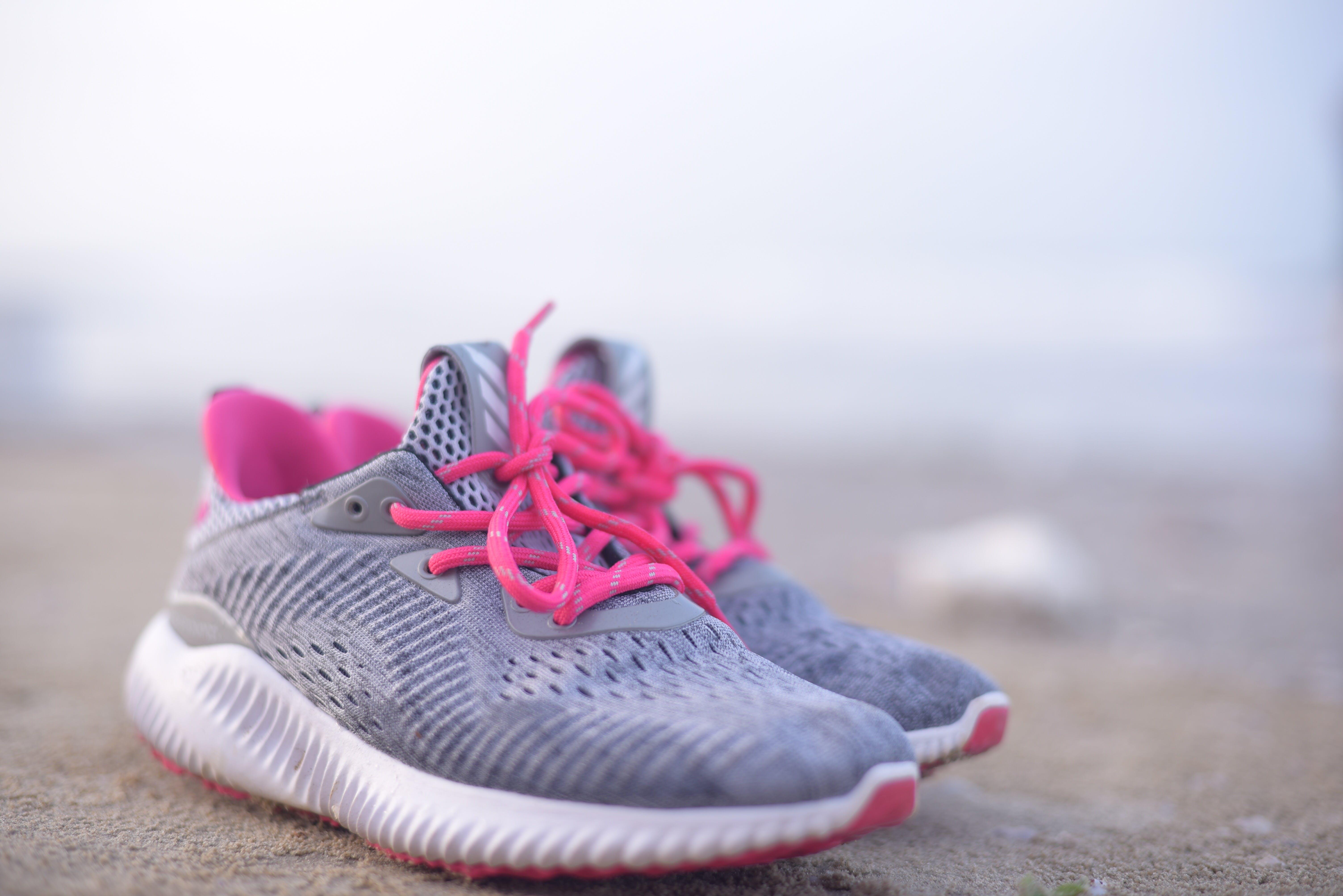 Pair of Grey Sneakers