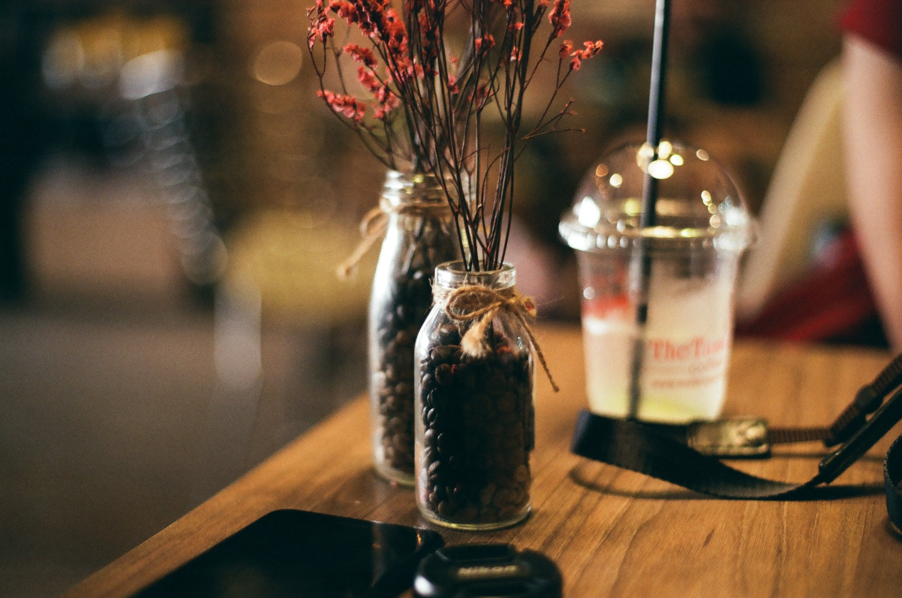Jars With Coffee Beans Inside