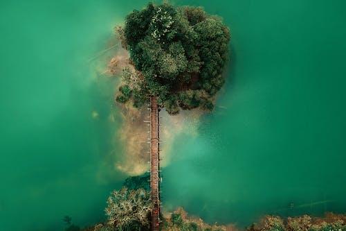 Gratis lagerfoto af bro, fra oven, fugleperspektiv, hav