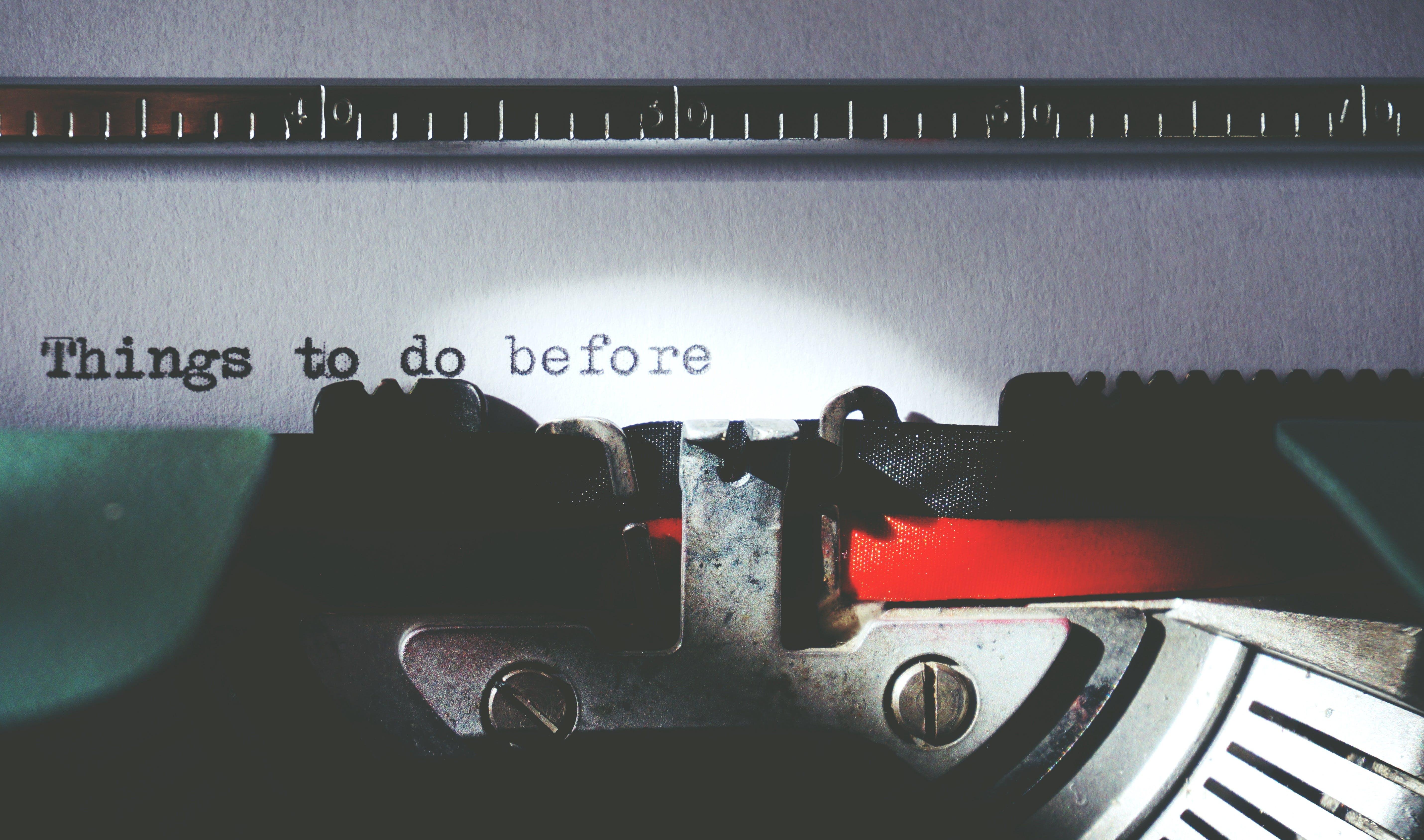 名單, 寫作, 打字機, 規劃 的 免费素材照片