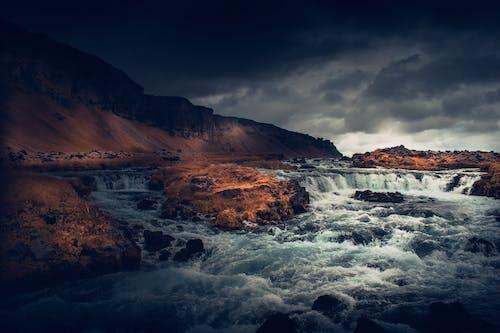 Imagine de stoc gratuită din abur, acoperit de nori, cascade, fotografie cu natură