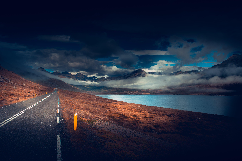 Gratis lagerfoto af asfalt, skyer, Tom, vej