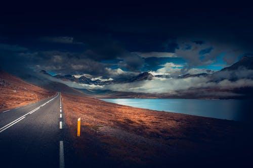 คลังภาพถ่ายฟรี ของ ถนน, ยางมะตอย, ว่างเปล่า, เมฆ