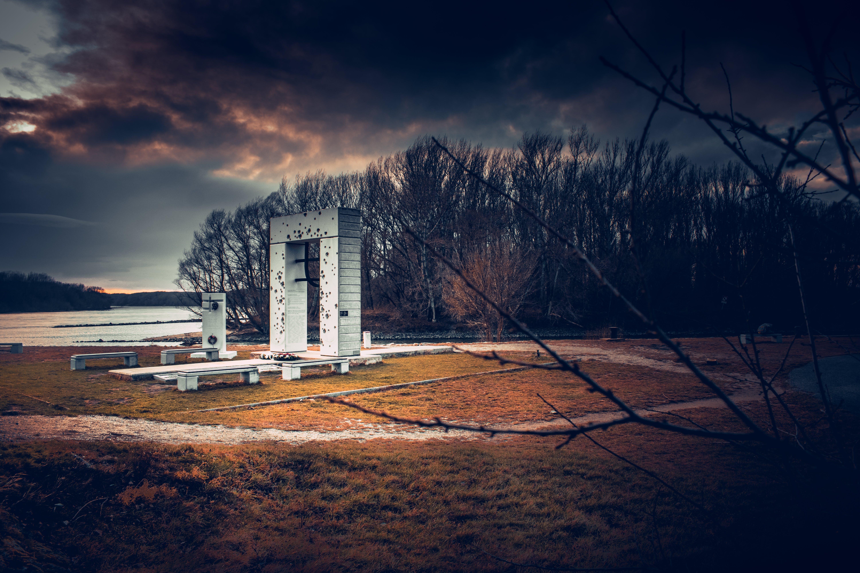 Základová fotografie zdarma na téma 4k tapeta, památník, příroda, západ slunce