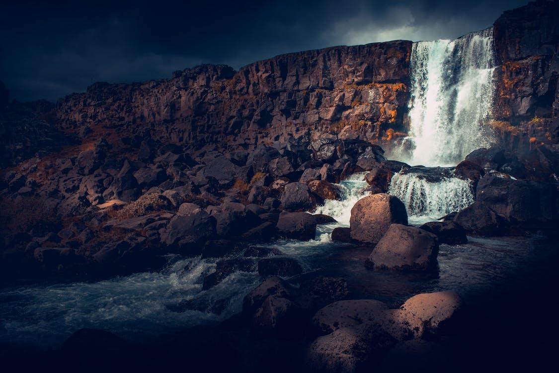 경치가 좋은, 바위, 아이슬란드